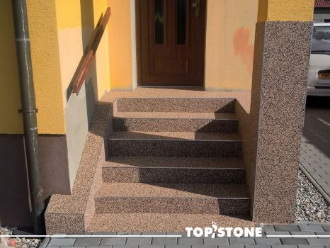 Staircase TopStone Arabescato marble stone