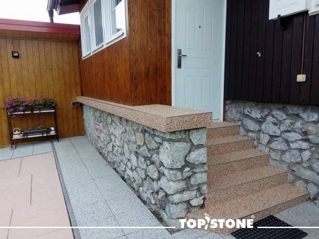 TopStone Arabescato marble stone, stairs