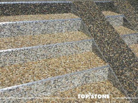 River stone TopStone - stairs with ramp for prams